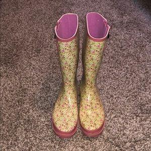 Shoes - Floral rain boots